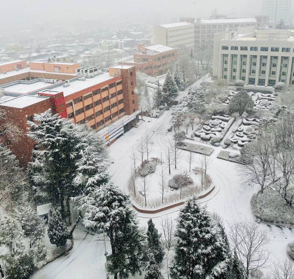 trường đại học woosong vào mùa đông
