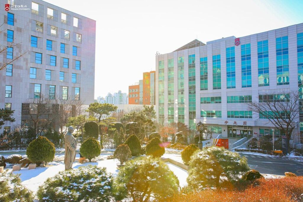 cảnh trường đại học sogang hàn quốc
